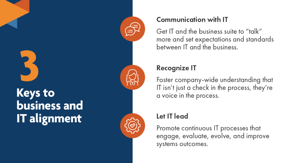 3 keys to business and IT alignment